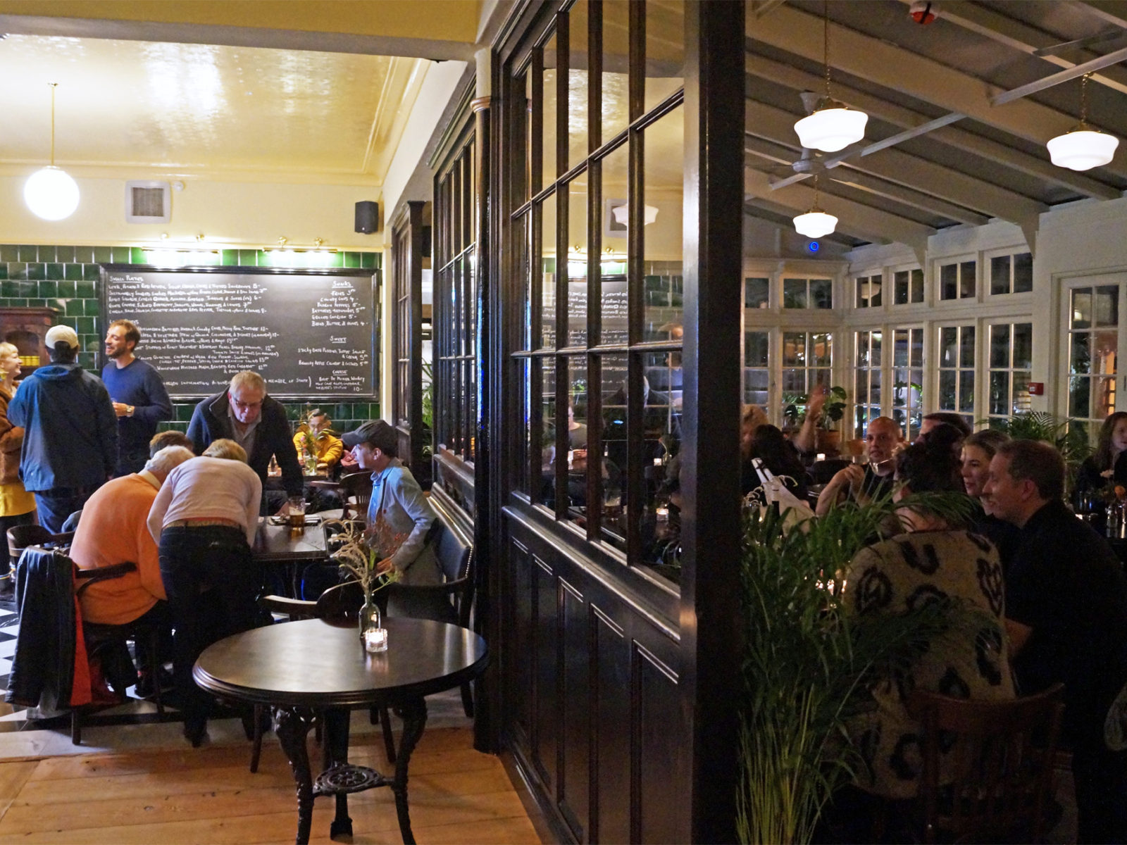 Both our inside and conservatory area offer space for a nice meal