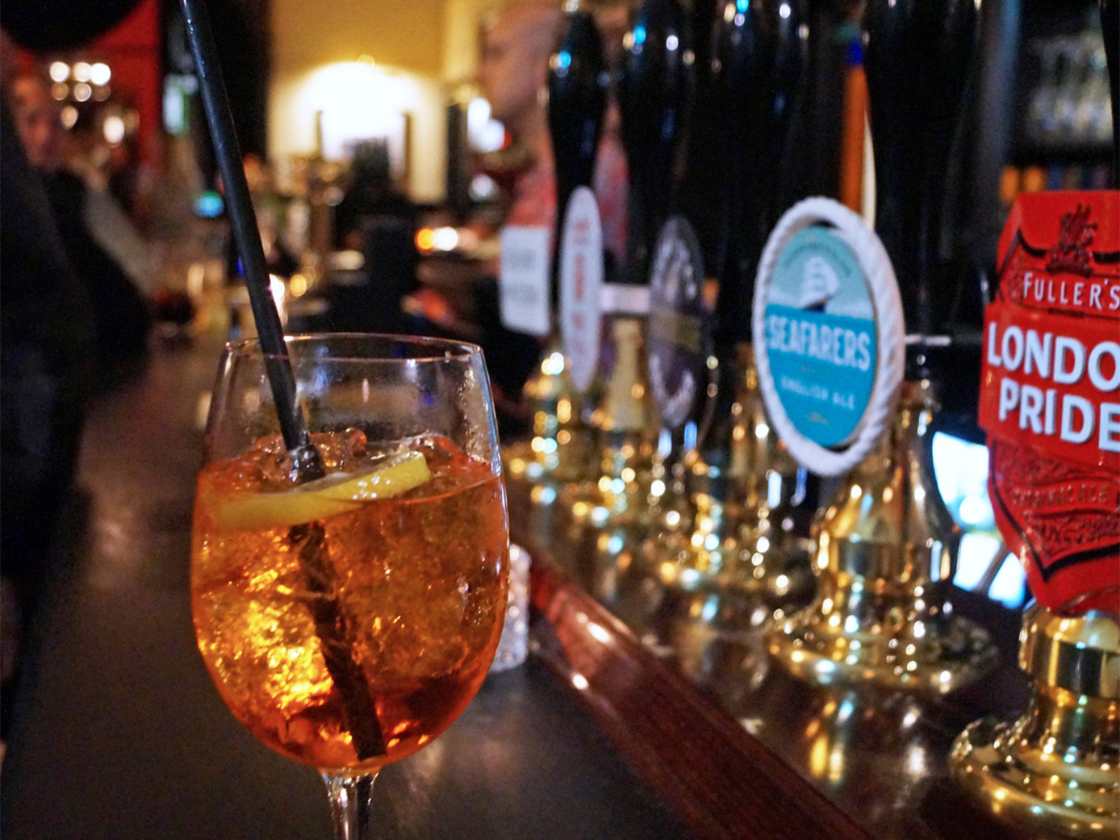 A refreshing Aperol Spritz at the Holly Tree